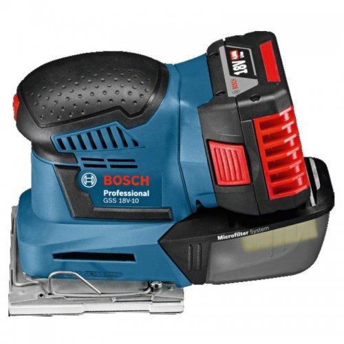 Aku vibrační bruska bez aku Bosch GSS 18V-10 Professional