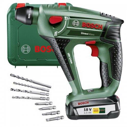 Aku vrtací kladivo 18V 2,5Ah Bosch Uneo Maxx 0.603.952.30F
