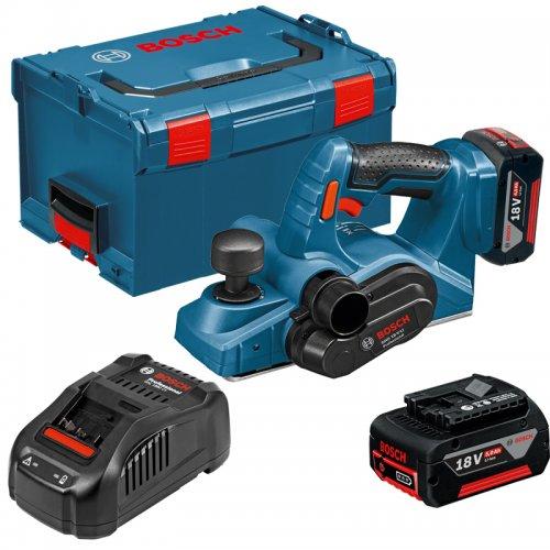 Aku hoblík 2x5,0Ah + L-Boxx Bosch GHO 18 V-LI Professional