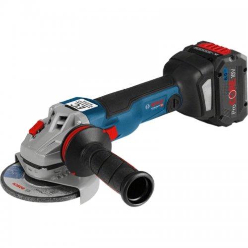 Aku úhlová bruska 18V 2x5,0Ah Bosch GWS 18V-10 C Professional 0.601.9G3.10D
