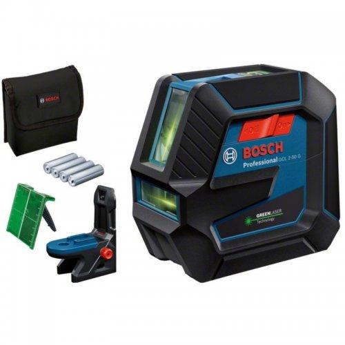 Křížový laser BOSCH GCL 2-50 G s olovnicí (zelený) 0 601 066 M00