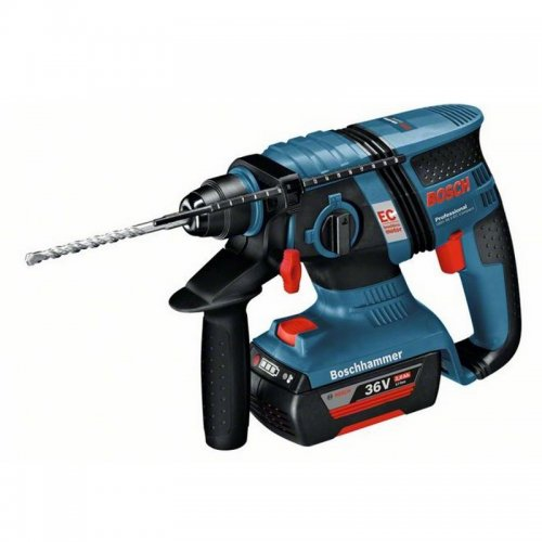 Aku vrtací kladivo 2x2,0Ah Bosch GBH 36 V-EC Compact Professional