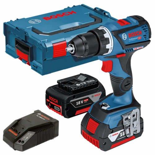 Aku vrtací šroubovák 18V 2x5,0Ah Bosch GSR 18V-60 C Professional 0 601 9G1 100