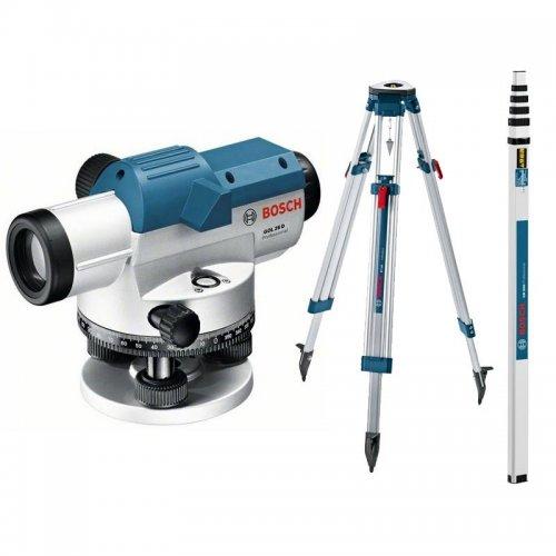 Optický nivelační přístroj Bosch GOL 20 G Professional + stativ BT 160 + nivelační lať GR 500 0 615 994 04P