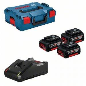 Set akumulátorů L-BOXX BOSCH GAL 18V-40 + 3x GBA 18V 5,0Ah 0615990L3T