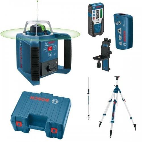 Stavební rotační laser set + BT 300 HD + GR 240 Bosch GRL 300 HVG Professional