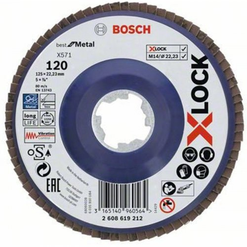 Lamelový kotouč rovné provedení Best for Metal 125mm Bosch X-LOCK 2608619212
