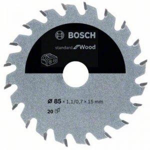 Pilový kotouč 85×1,1/0,7×15 T20 Standard for Wood Bosch 2608837666