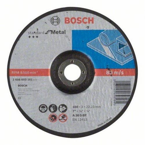 Dělicí kotouč profilovaný Standard for Metal A 30 S BF, 180 mm, 22,23 mm, 3,0 mm Bosch 2608603161