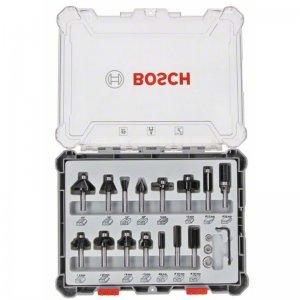 Sada tvarových fréz 15ks s 8mm vřetenem Bosch 2607017472