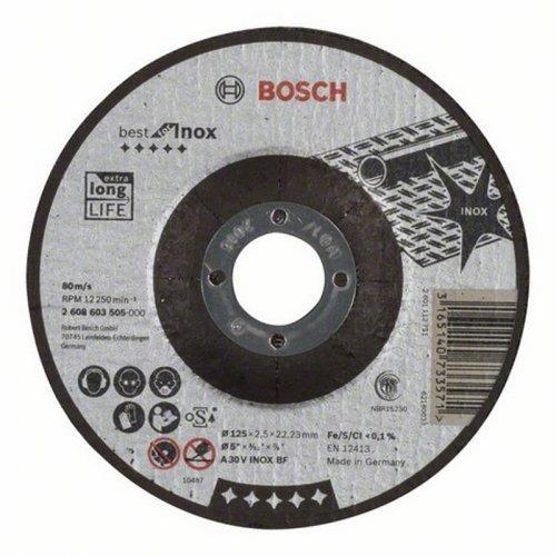 Dělicí kotouč profilovaný na nerez Best for Inox A 46 V INOX BF, 125 mm, 1,5 mm Bosch 2608603497