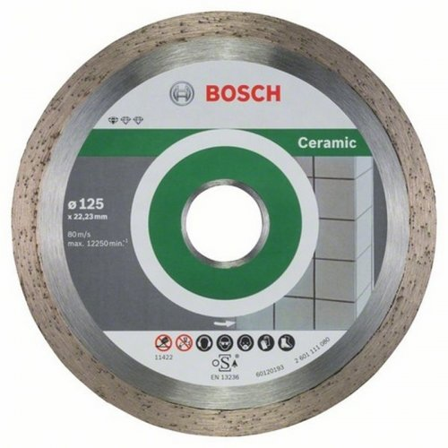 Diamantový dělicí kotouč 10ks Standard for Ceramic 125 x 22,23 x 1,6 x 7 mm Bosch 2608603232