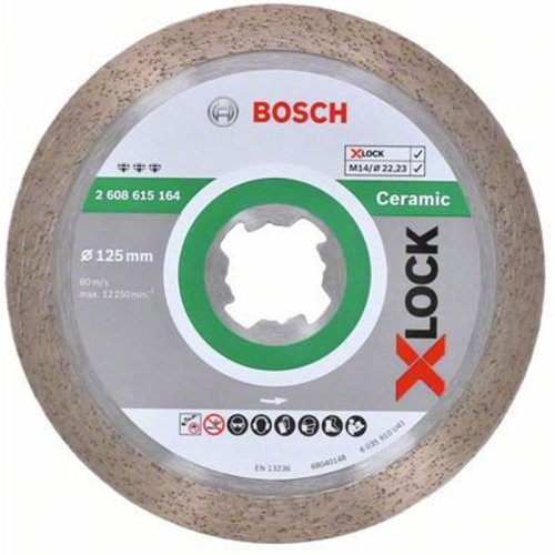 Diamantový dělicí kotouč Best for Ceramic 125mm X-LOCK 2608615164