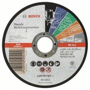 Dělicí kotouč rovný Multi Construction 125 mm, 22,23 mm, 1,0 mm Bosch 2608602385