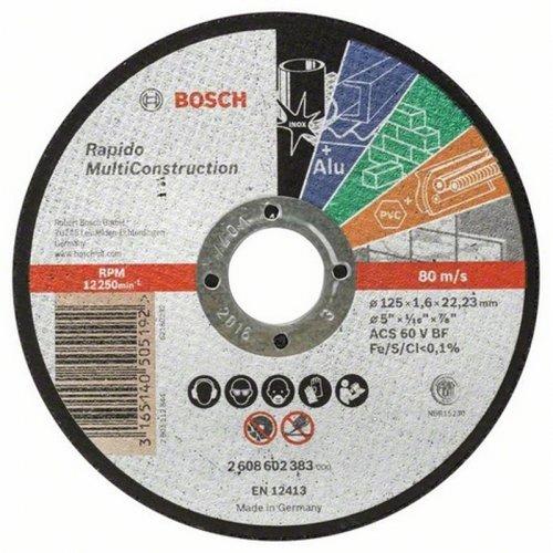 Dělicí kotouč rovný Multi Construction 125 mm, 22,23 mm, 1,6 mm Bosch 2608602383