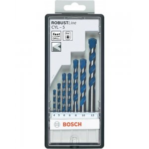 7dílná sada vrtáků do betonu Robust Line CYL-5 4;5;5;6;6;8;10 Bosch 2608588167