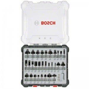 Sada tvarových fréz 30ks s 8mm vřetenem Bosch 2607017475