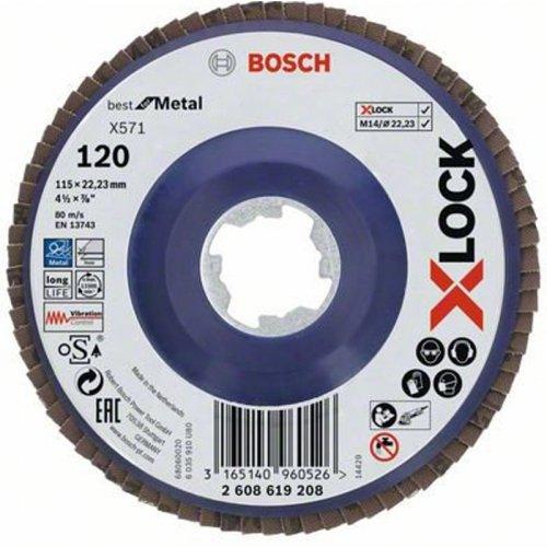 Lamelový kotouč rovné provedení Best for Metal 115mm Bosch X-LOCK 2608619208