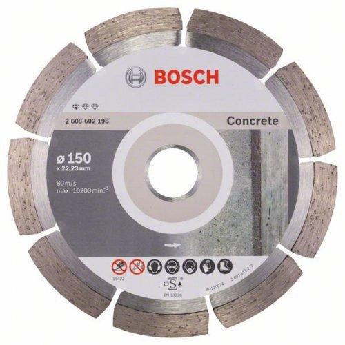 Diamantový dělicí kotouč Standard for Concrete 150 x 22,23 x 2 x 10 mm Bosch 2608602198