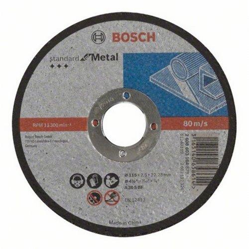 Dělicí kotouč rovný Standard for Metal A 30 S BF, 115 mm, 22,23 mm, 2,5 mm Bosch 2608603164
