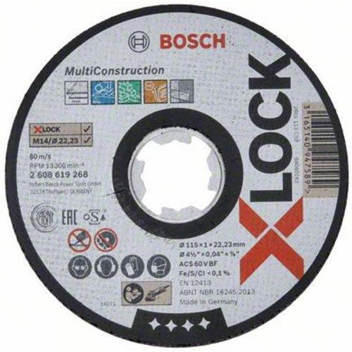Řezný kotouč na kov Multi Construction 115mm Bosch X-LOCK 2608619268