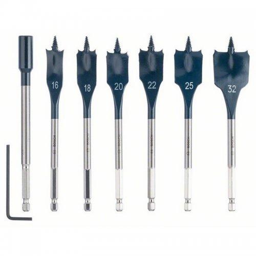 7dílná sada plochých frézovacích vrtáků Bosch Self Cut Speed 2608587009