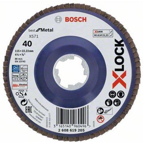 Lamelový kotouč rovné provedení Best for Metal 125mm Bosch X-LOCK 2608619205