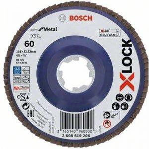 Lamelový kotouč rovné provedení Best for Metal 115mm Bosch X-LOCK 2608619206