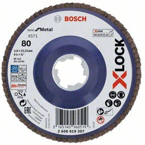 Lamelový kotouč rovné provedení Best for Metal 115mm Bosch X-LOCK 2608619207