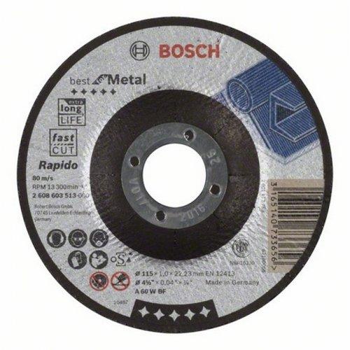 Dělicí kotouč profilovaný Best for Metal Rapido A 60 W BF, 125 mm, 1,0 mm Bosch 2608603515