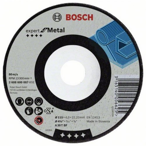 Hrubovací kotouč lomený - kov A 30 T BF, 180 mm, 22,23 mm, 8 mm Bosch