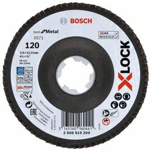 Lamelový kotouč lomené provedení Best for Metal 115mm Bosch X-LOCK 2608619200