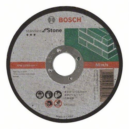 Dělicí kotouč rovný na kámen Standard for Stone C 30 S BF, 125 mm, 22,23 mm, 3,0 mm Bosch 2608603178