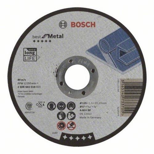 Dělicí kotouč rovný Best for Metal A 30 V BF, 125 mm, 2,5 mm Bosch 2608603526