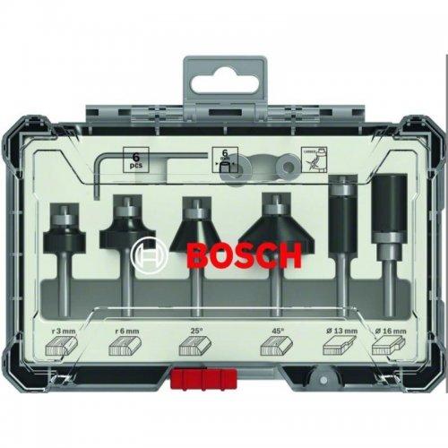 Sada ohraňovacích fréz s 6mm vřetenem Bosch 2607017468