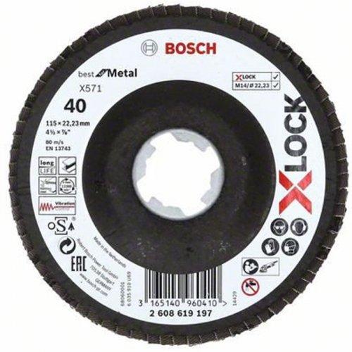 Lamelový kotouč lomené provedení Best for Metal 115mm Bosch X-LOCK 2608619197