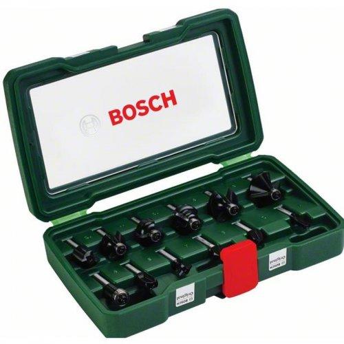 12 dílná sada fréz z tvrdokovu (stopky 8 mm) Bosch 2607019466