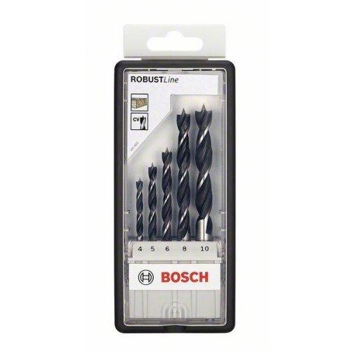 Sada spirálových vrtáků do dřeva Robust Line, 5dílná 4; 5; 6; 8; 10 mm Bosch 2607010527