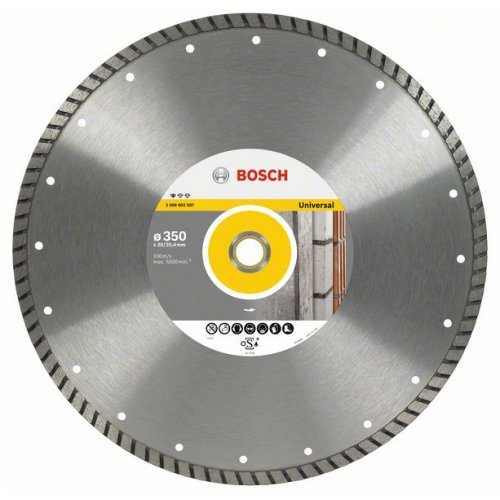 Diamantový dělicí kotouč Standard for Universal Turbo 300 x 20/25,4 x 3 x 10 mm Bosch 2608602586