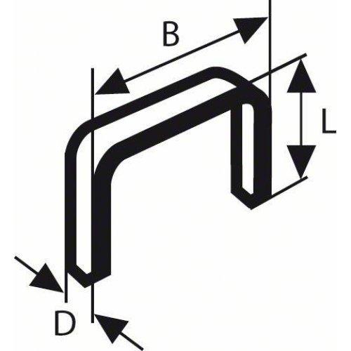 Sponky do sponkovačky z tenkého drátu, typ 53 11,4 x 0,74 x 6 mm Bosch 1609200326