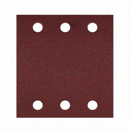 10dílná sada brusných papírů 115 x 107 mm, 80 Bosch