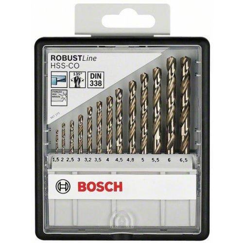 Sada vrtáků do kovu Robust Line HSS-Co, 13dílná 1,5; 2; 2,5; 3; 3,2; 3,5; 4; 4,5; 4,8; 5; 5,5; 6; 6,5 mm Bosch 2607019926