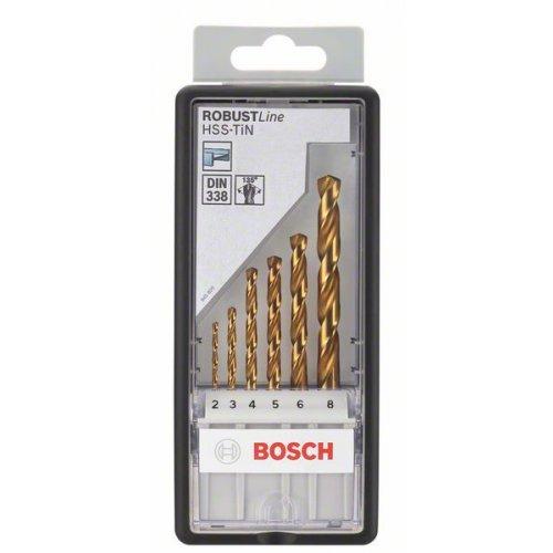 Sada vrtáků do kovu Robust Line HSS-TiN, 6dílná, 135° Bosch 2607010530