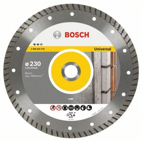 Diamantový dělicí kotouč Expert for Universal Turbo 180 x 22,23 x 2,4 x 12 mm Bosch 2608602577