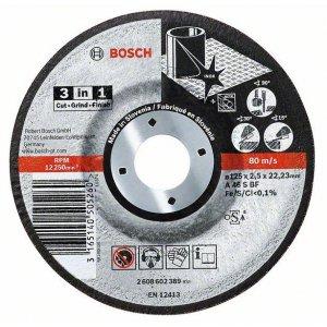 Dělicí kotouč na kov a nerez 3 v 1 A 46 S BF, 125 mm, 22,23 mm, 2,5 mm Bosch 2608602389