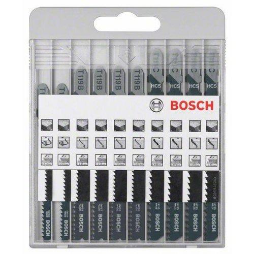 10dílná sada pilových plátků pro kmitací pily Bosch Basic for Wood T 119