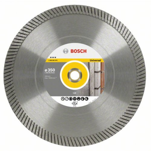 Diamantový dělicí kotouč Best for Universal Turbo 300 x 20/25,4 x 3 x 15 mm Bosch 2608602677