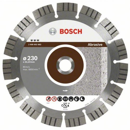 Diamantový dělicí kotouč Best for Abrasive 150 x 22,23 x 2,4 x 12 mm Bosch 2608602681