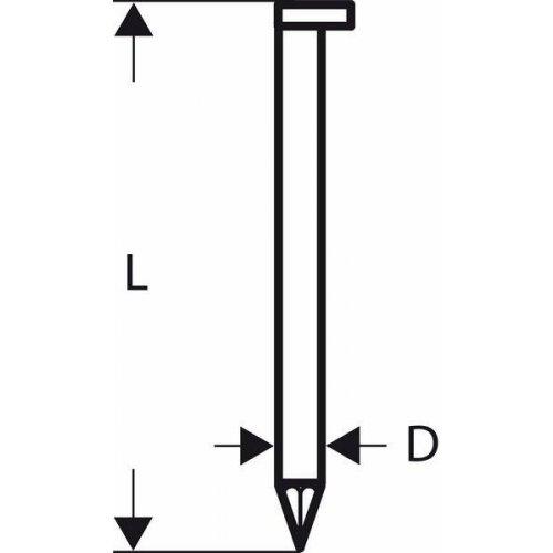 Hřebíky s hlavou tvaru D v pásu SN34DK 80 3,1 mm, 80 mm, bez povrchové úpravy, hladký Bosch