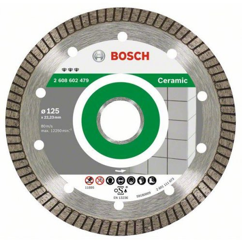 Diamantový dělicí kotouč Best for Ceramic Extraclean Turbo 115 x 22,23 x 1,4 x 7 mm Bosch 2608602478